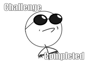 Challenge done